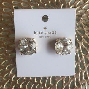 BNWT Fabulous Huge Kate Spade Faux Diamond Studs!
